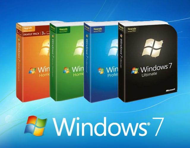 Packs de instalación de Windows 7