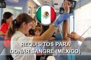 requisitos para donar sangre en mexico