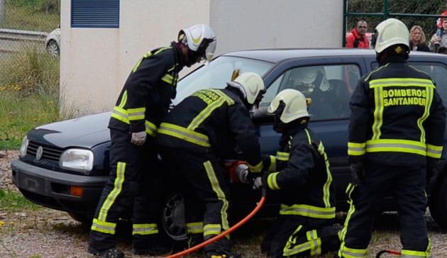 bomberos simulacro