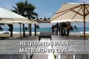 requisitos matrimonio civil