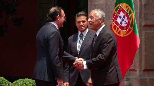 Presidentes de las Repúblicas de México y Portugal