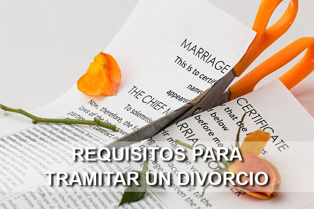 requisitos para tramitar divorcio