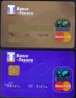 Tarjetas de crédito de Banco del Tesoro