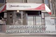 requisitos tarjeta crédito Banco Bicentenario