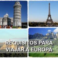 requisitos para viajar a europa