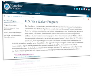 visa waiver program