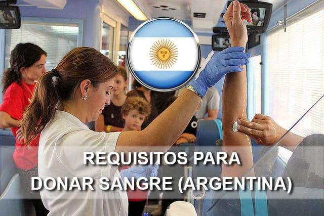 requisitos para donar sangre en argentina
