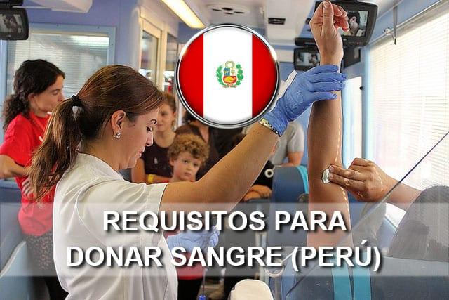 Requisitos para donar sangre en Perú