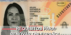 renovar DNI español