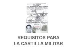 Requisitos para tramitar la Cartilla Militar