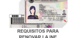 requisitos renovar INE