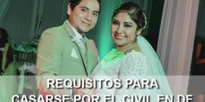 requisitos para casarse por el civil en el df