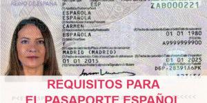 requisitos pasaporte español