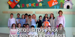 requisitos inscripción a primaria