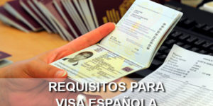 requisitos visa española