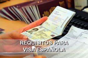 Requisitos para Visa española