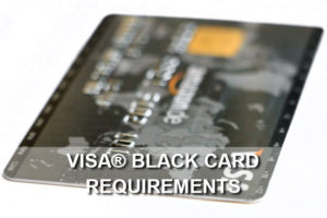 visa black card requirements