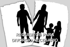 Requisitos para divorcio necesario