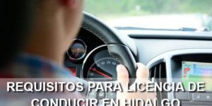 requisitos para licencia de conducir en Hidalgo