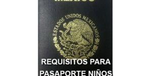 requisitos para pasaporte de niños