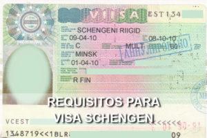 requisitos para la visa schengen