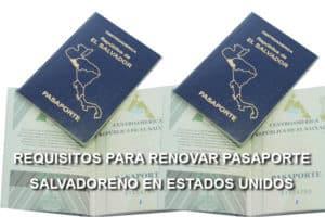 requisitos pasaporte salvadoreño