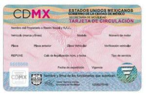 tarjeta circulacion cdmx
