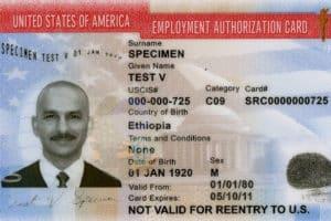 requisitos permiso trabajo USA